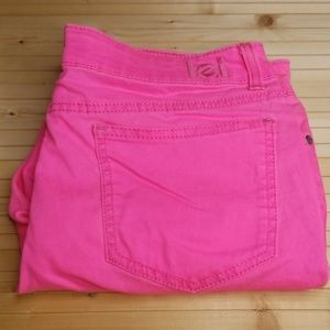 L.E.I. Ashley Low Rise Hot Pink Pants